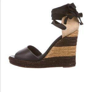Fendi Leather Wedge Sandal 38